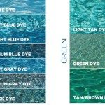 Pool Water Color Chart Blue
